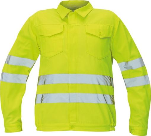 Obrázok z Červa KOROS Reflexná bunda žltá