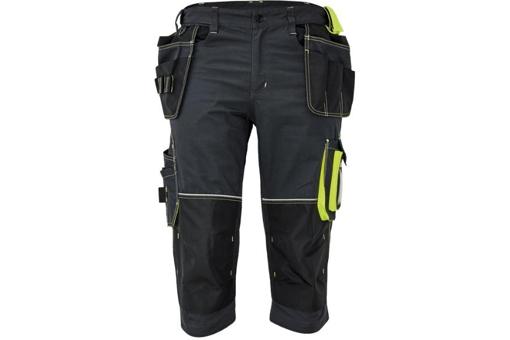Obrázok z KNOXFIELD 320 Pracovné 3/4 nohavice - antracit / žltá