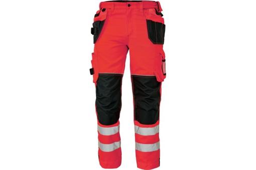 Obrázok z KNOXFIELD HI-VIS 310 FL Reflexné nohavice do pása - červená