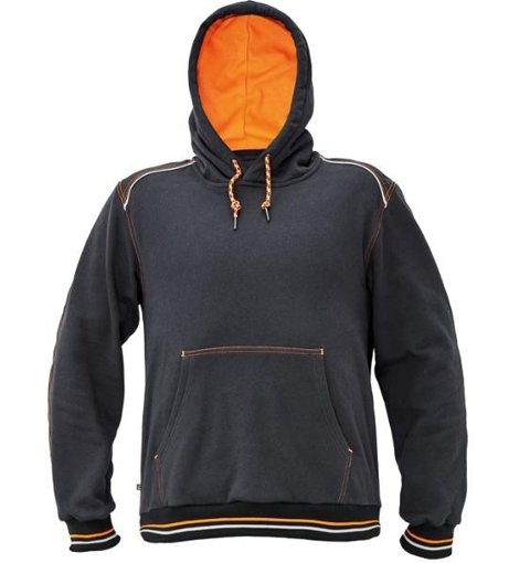 Obrázok z KNOXFIELD Pracovná mikina klokanka - antracit / oranžová