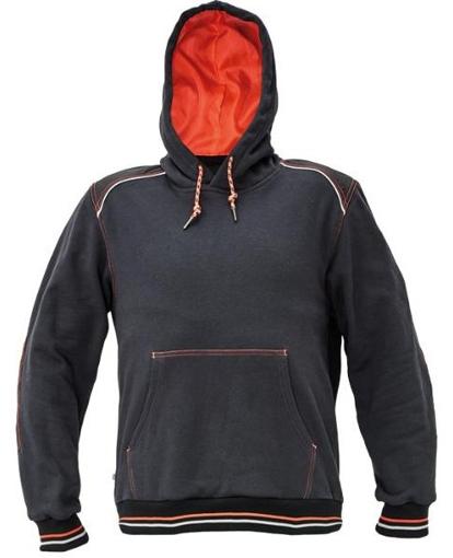 Obrázok z KNOXFIELD Pracovná mikina klokanka - antracit / červená