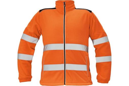 Obrázok z KNOXFIELD HI-VIS Pánska fleecová bunda oranžová