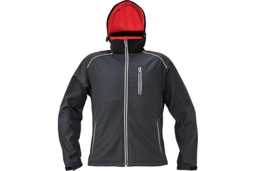 Obrázok z KNOXFIELD Pánska softshellová bunda antracit / červená