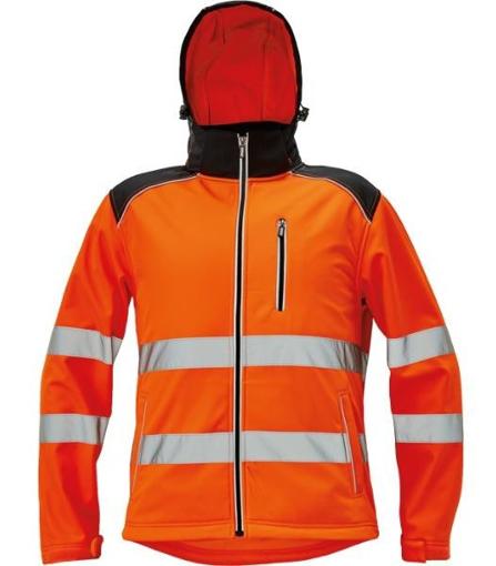 Obrázok z KNOXFIELD HI-VIS Pánska softshellová bunda oranžová