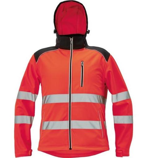 Obrázok z KNOXFIELD HI-VIS Pánska softshellová bunda červená