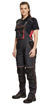 Obrázok z KNOXFIELD LADY Pracovné nohavice s trakmi - antracit / červená