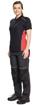 Obrázok z KNOXFIELD LADY Pracovná polokošeľa - antracit / červená