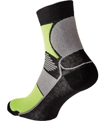 Obrázok z KNOXFIELD BASIC Ponožky čierna / žltá