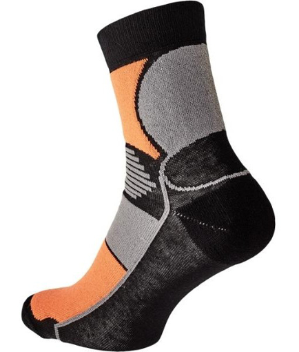 Obrázok z KNOXFIELD BASIC Ponožky čierna / oranžová