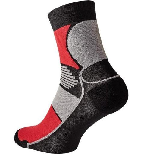Obrázok z KNOXFIELD BASIC Ponožky čierna / červená