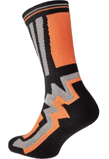 Obrázok z KNOXFIELD LONG Ponožky čierna / oranžová