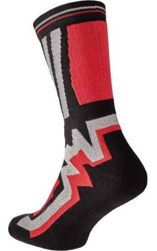 Obrázok z KNOXFIELD LONG Ponožky čierna / červená