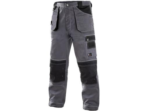 Obrázok z CXS ORION TEODOR Pracovné nohavice do pásu šedo / čierne - zimné predĺžené