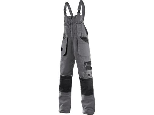 Obrázok z CXS ORION KRYŠTOF Pracovné nohavice s trakmi šedo / čierne - zimné predĺžené