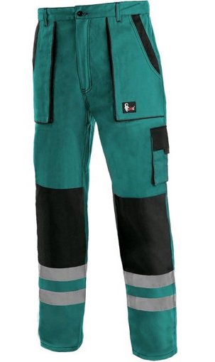 Obrázok z CXS LUXY BRIGHT Pracovné nohavice do pasu zeleno / čierne