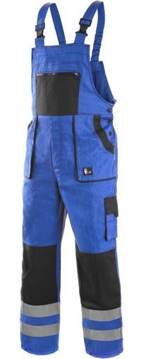 Obrázok z CXS LUXY BRIGHT Pracovné nohavice s trakmi modro / čierne