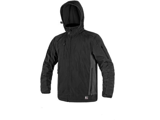 Obrázok z CXS DURHAM Pánska softshellová bunda čierna