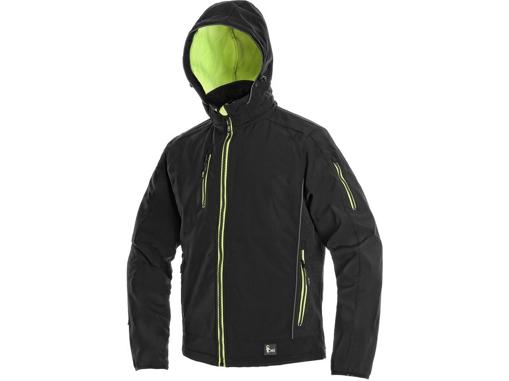 Obrázok z CXS DURHAM Pánska softshellová bunda čierno / žltá