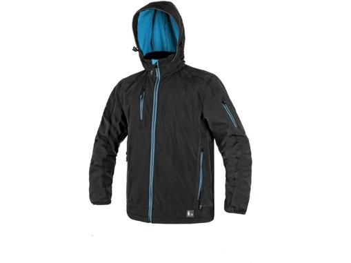 Obrázok z CXS DURHAM Pánska softshellová bunda čierno / modrá