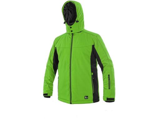Obrázok z CXS VEGAS Pánska softshellová bunda zeleno / čierna - zimná