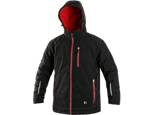 Obrázok z CXS KINGSTON Pánska zimná softshellová bunda čierno / červená