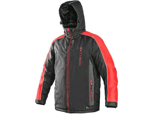 Obrázok z CXS BRIGHTON Pánska zimná bunda šedo-červená