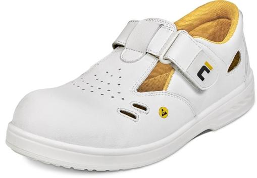 Obrázok z RAVEN ESD O1 SRC Pracovné sandále biele