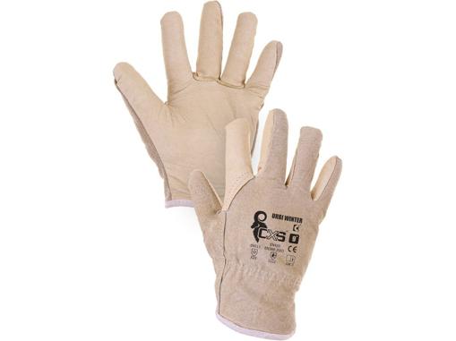 Obrázok z CXS URBI WINTER Pracovné celokožené rukavice zimné