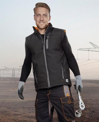 Obrázok z VISION Zimná softshellová vesta čierna