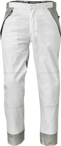 Obrázok z Červa MONTROSE Pracovné nohavice do pásu biele