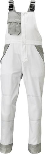 Obrázok z Červa MONTROSE Pracovné nohavice s trakmi biele