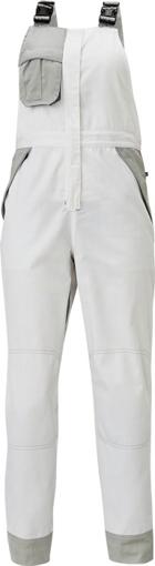 Obrázok z Červa MONTROSE LADY Pracovné nohavice s trakmi biele
