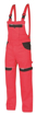Obrázok z COOL TREND Pracovné nohavice s trakmi červené predĺžené