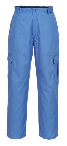 Obrázok z Portwest AS11 Antistatické ESD nohavice do pásu modré
