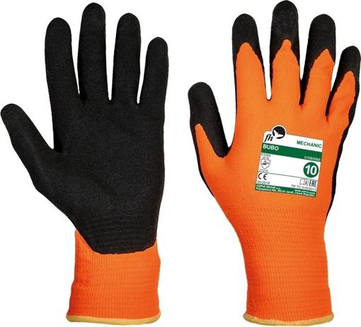 Obrázok z Free Hand BUBO oranžová-čierna Pracovné rukavice
