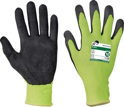 Obrázok z Free Hand BUBO žltá-čierna Pracovné rukavice