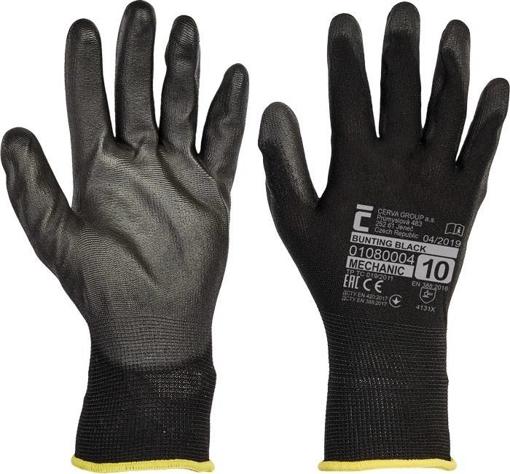 Obrázok z Červa BUNTING BLACK Pracovné rukavice - 240 Párov