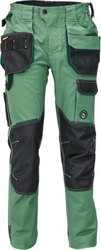 Obrázok z Červa DAYBORO Pracovné nohavice do pásu machovo zelená / čierna