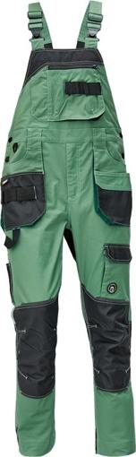 Obrázok z Červa DAYBORO Pracovné nohavice s trakmi machovo zelená / čierna