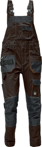 Obrázok z Červa DAYBORO Pracovné nohavice s trakmi tm. hnedá / hnedá