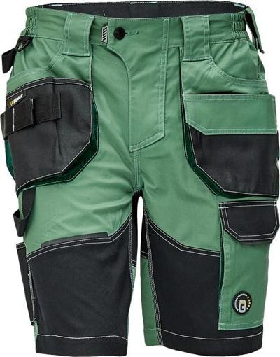 Obrázok z Červa DAYBORO Pracovné šortky machovo zelená / čierna