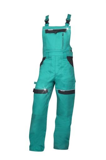 Obrázok z COOL TREND Pracovné nohavice s trakmi zelené predlžené