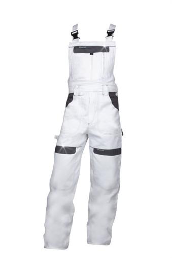 Obrázok z COOL TREND Pracovné nohavice s trakmi bielo-šedé