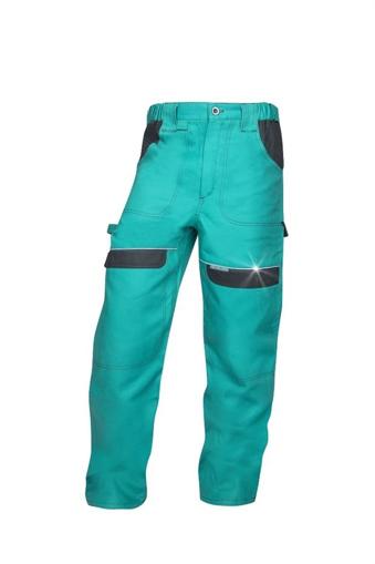 Obrázok z COOL TREND Pracovné nohavice do pásu zelené predlžené