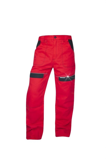Obrázok z COOL TREND Pracovné nohavice do pása červené predlžené