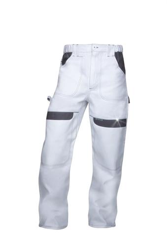 Obrázok z COOL TREND Pracovné nohavice do pásu bielo-šedé