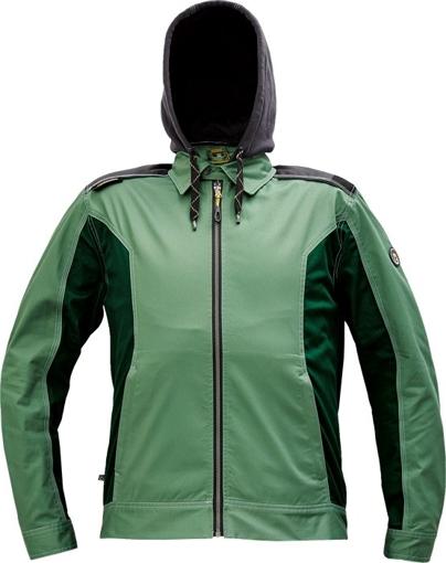 Obrázok z Červa DAYBORO Pracovná bunda machovo zelená / čierna