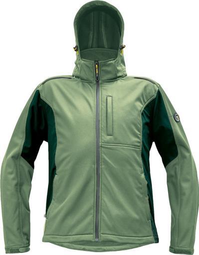 Obrázok z Červa DAYBORO Pánska softshellová bunda machovo zelená / čierna