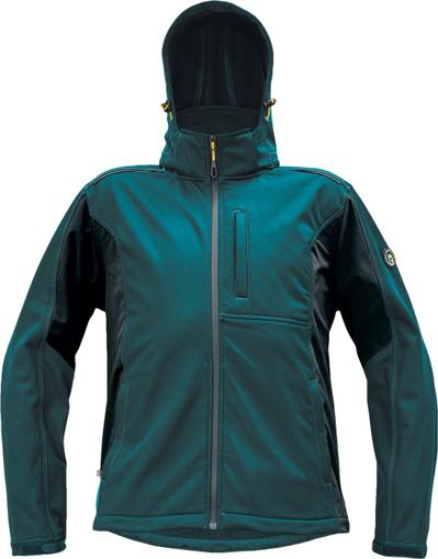 Obrázok z Červa DAYBORO Pánska softshellová bunda petrolejová / čierna