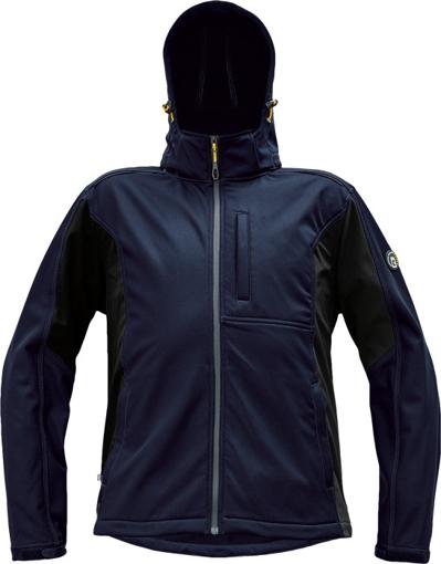 Obrázok z Červa DAYBORO Pánska softshellová bunda tm. modrá / čierna